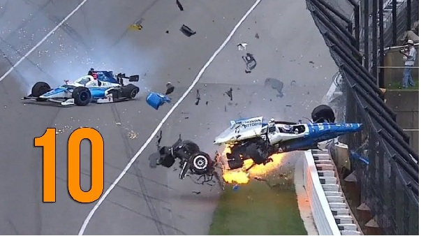 2018 Tope Ten Indy car Crashes