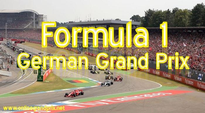 Formula 1 German Grand Prix Live Streaming