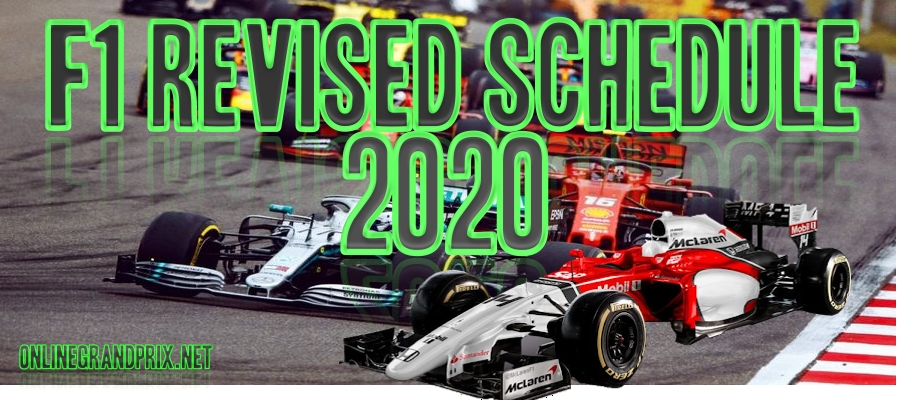 F1 Confirm 8 Races in Revise Schedule of 2020 Season