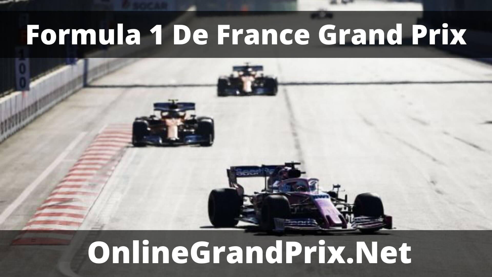 F1 Practice 2 De France GP Live Stream 2020