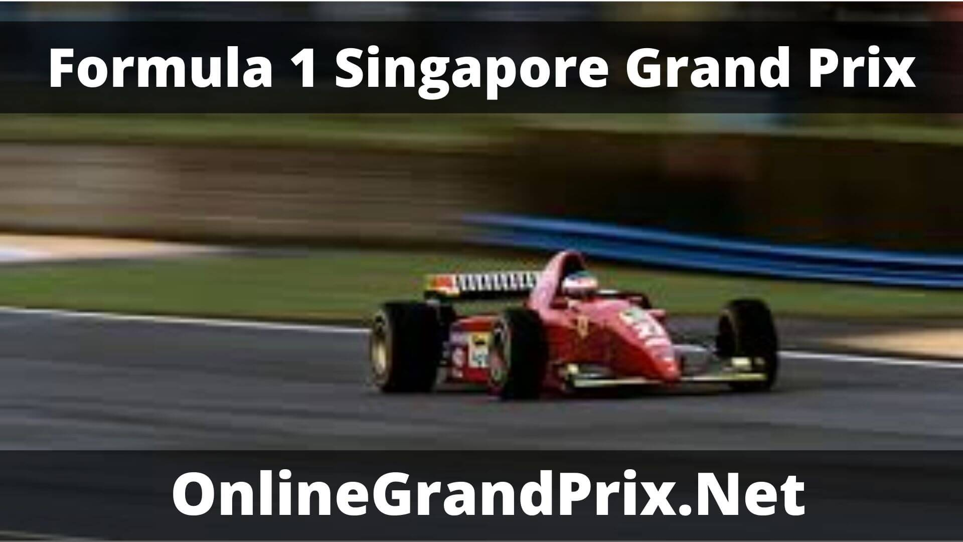 F1 Qualifying Singapore GP Live Stream 2020