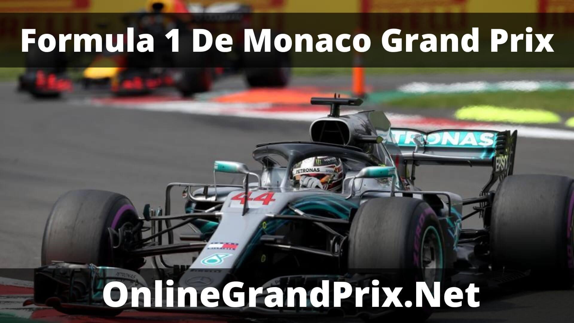 F1 Practice 1 De Monaco GP Live Stream 2020