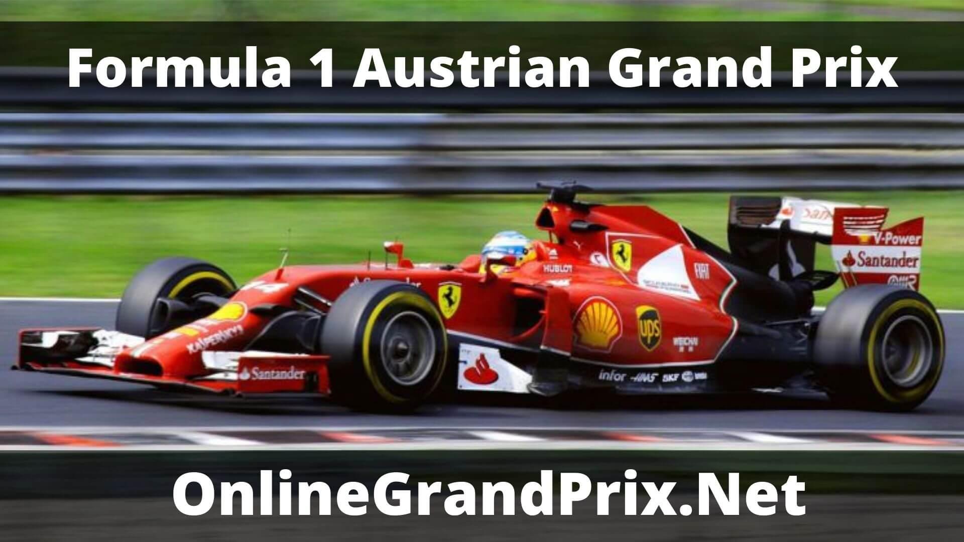 F1 Practice 1 Austrian GP Live Stream 2020