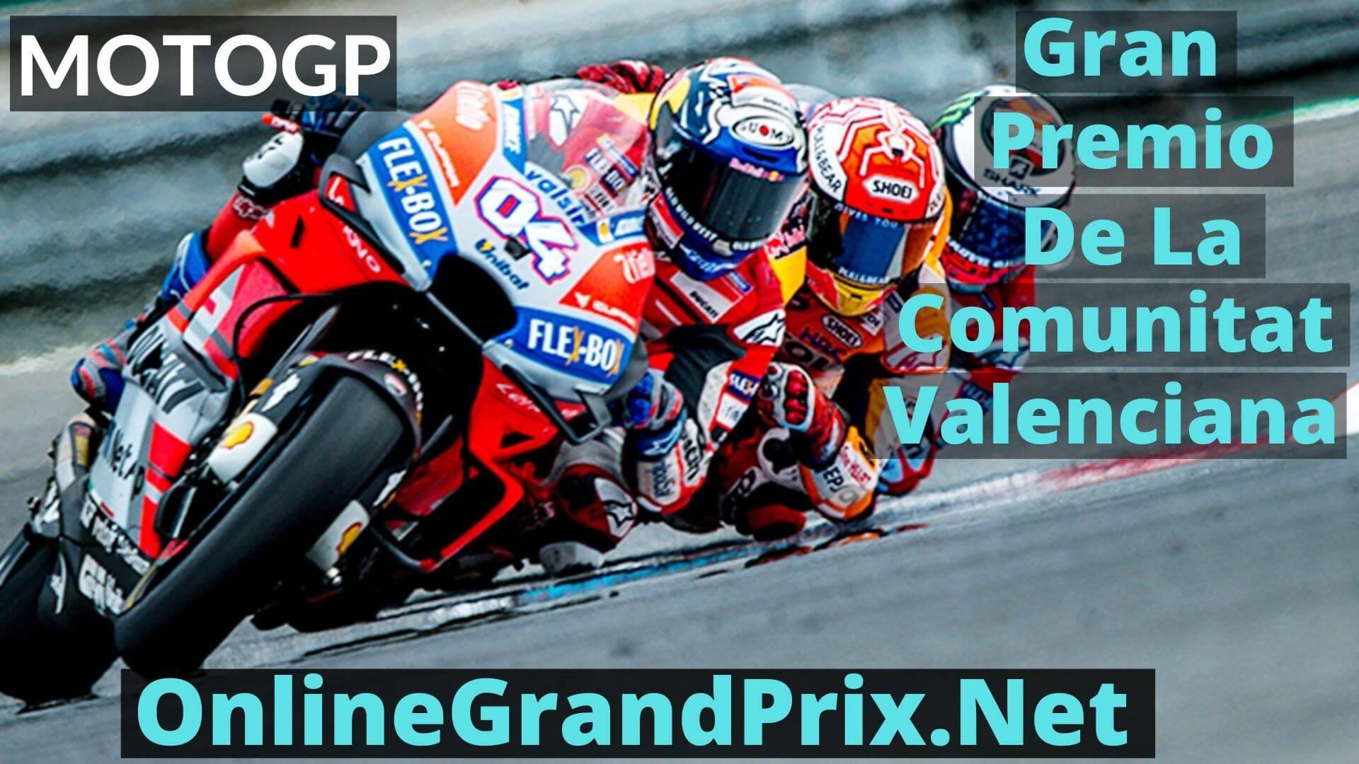 Gran Premio de la Comunitat Valenciana Live Stream 2020 | MotoGP