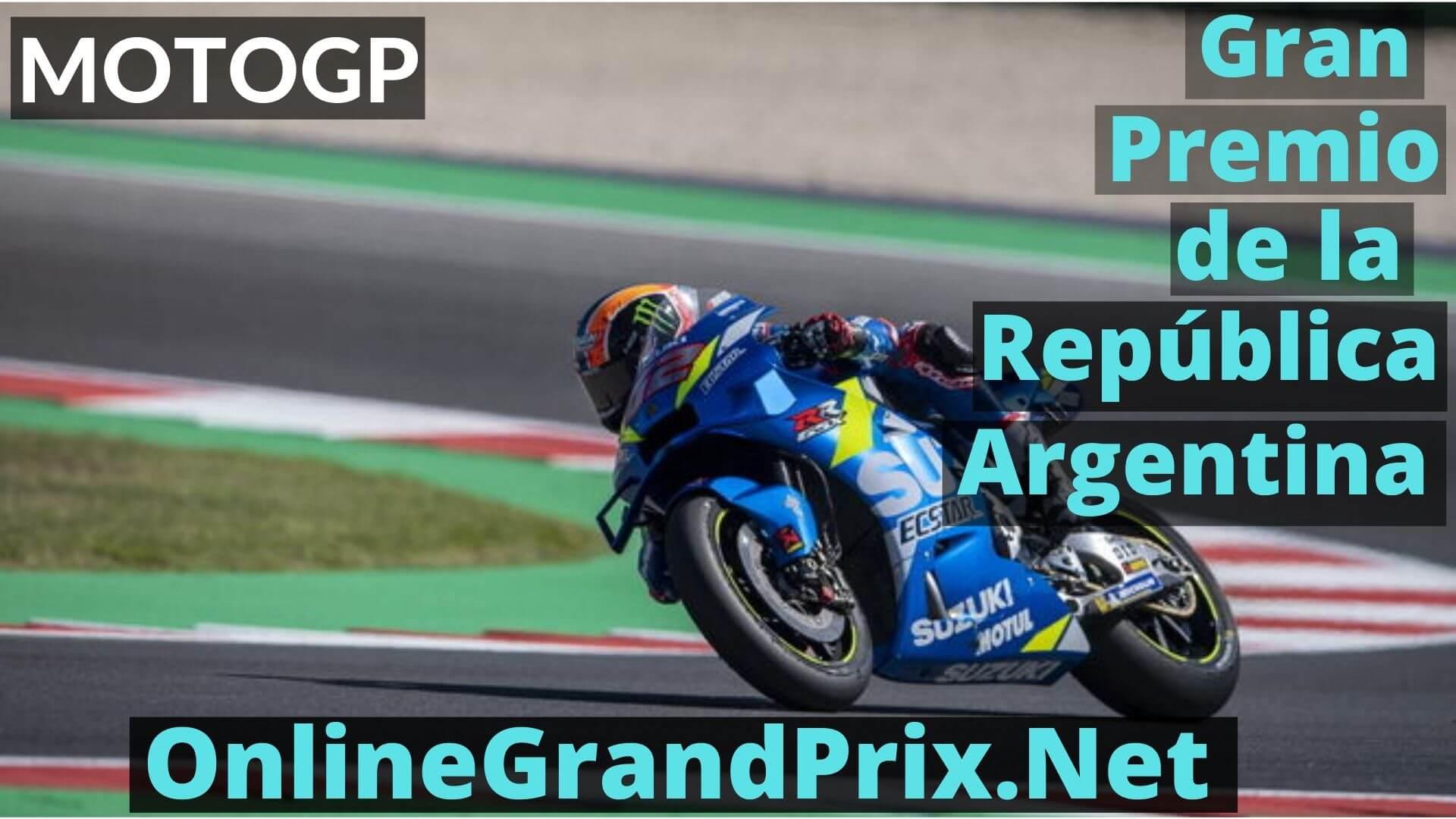 Gran Premio de la Republica Argentina Live Stream 2020 | MotoGP