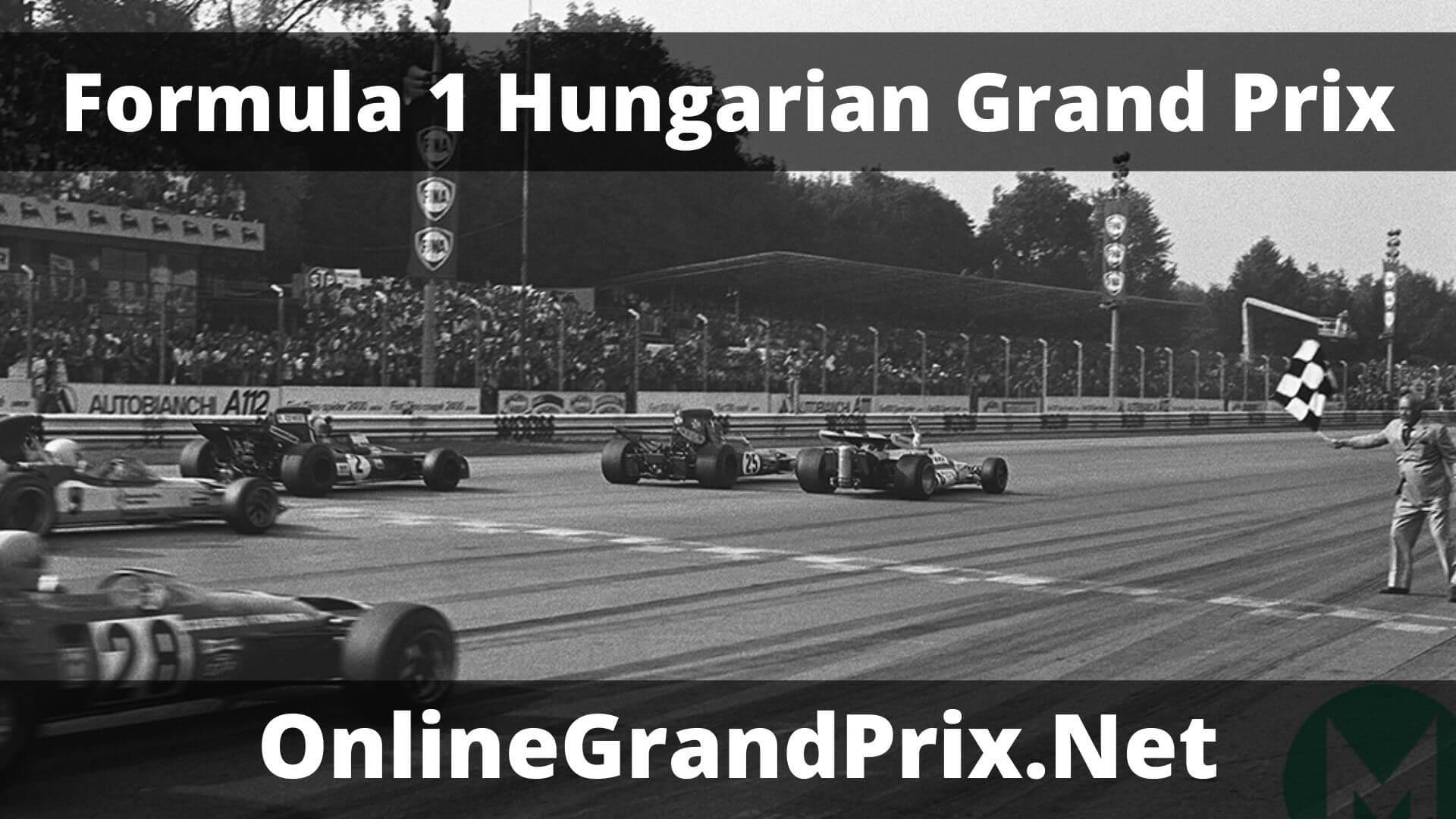 F1 Practice 1 Hungarian GP Live Stream 2020