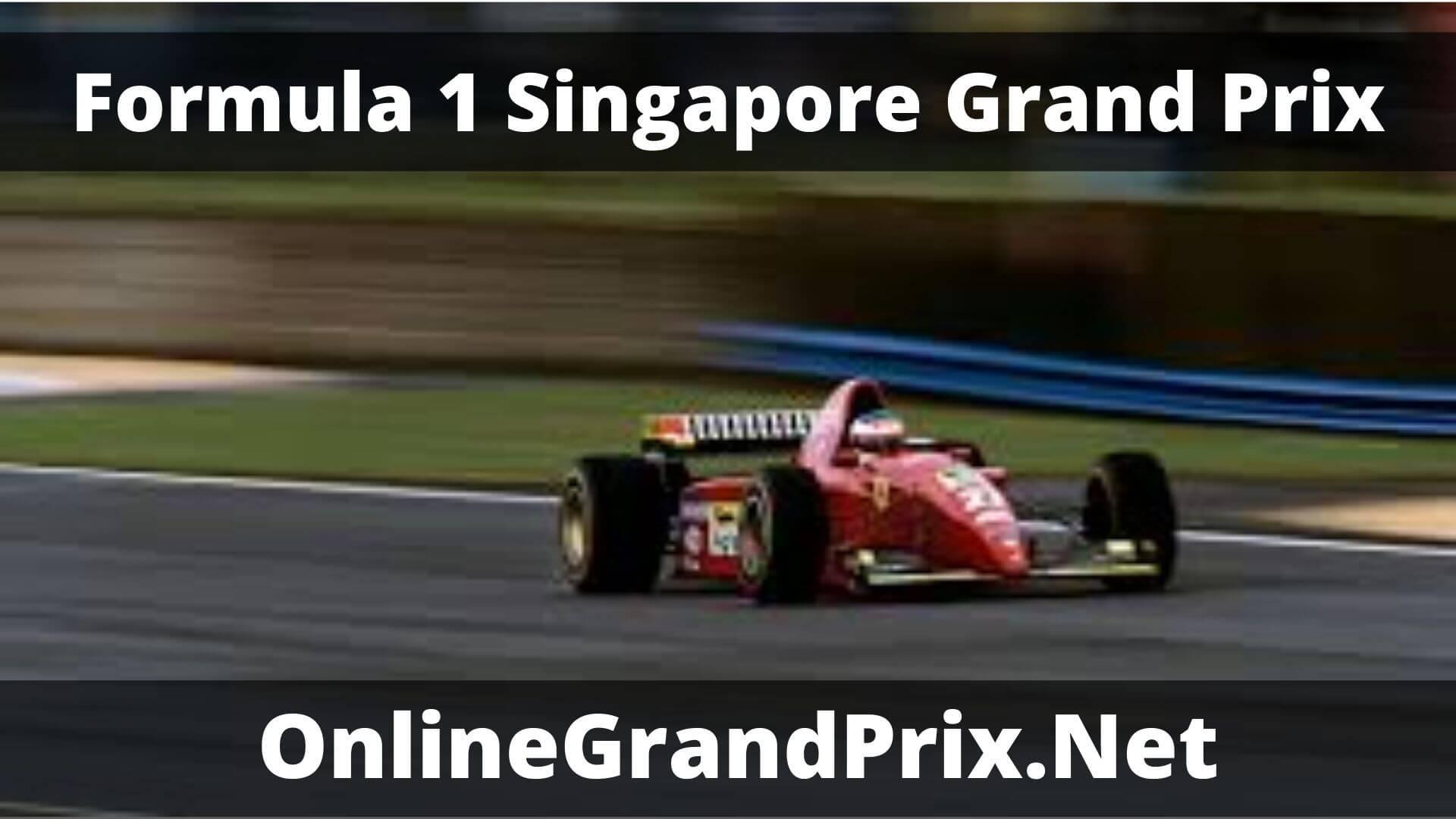F1 Practice 1 Singapore GP Live Stream 2020