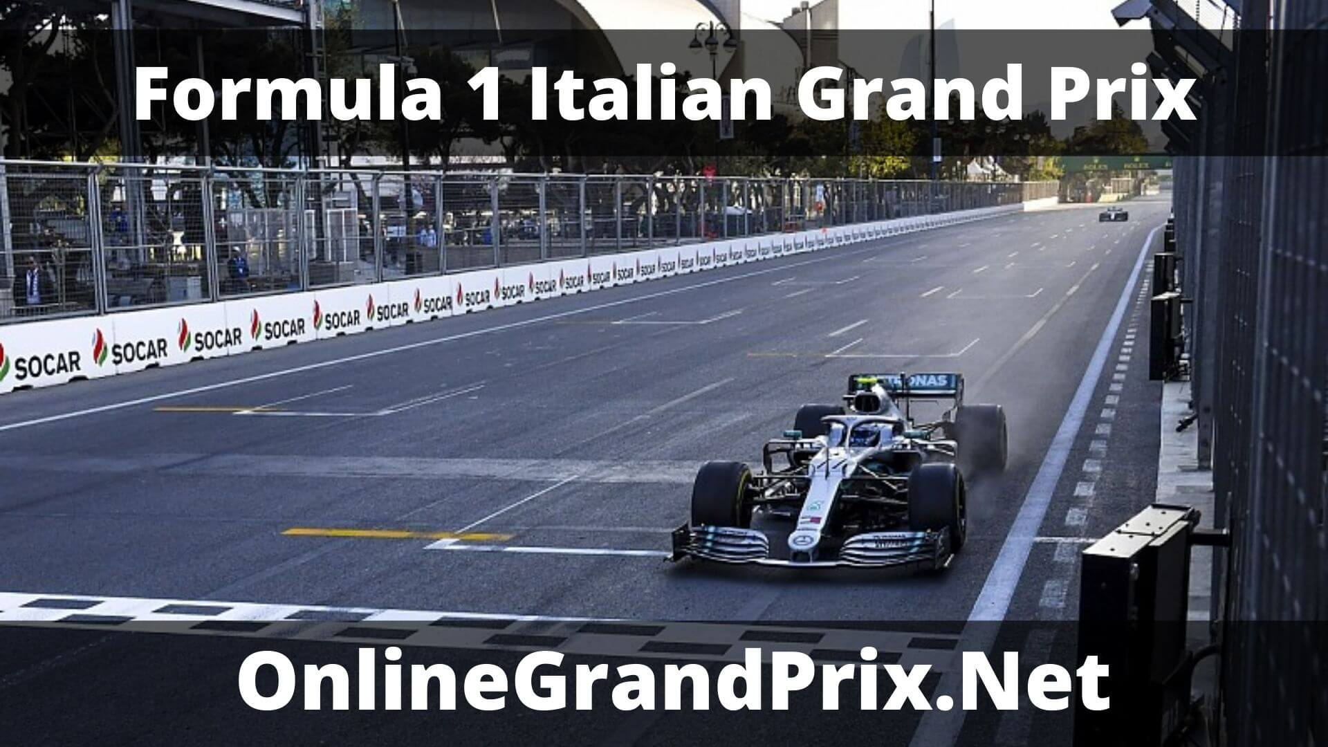 F1 Practice 1 Italian GP Live Stream 2020