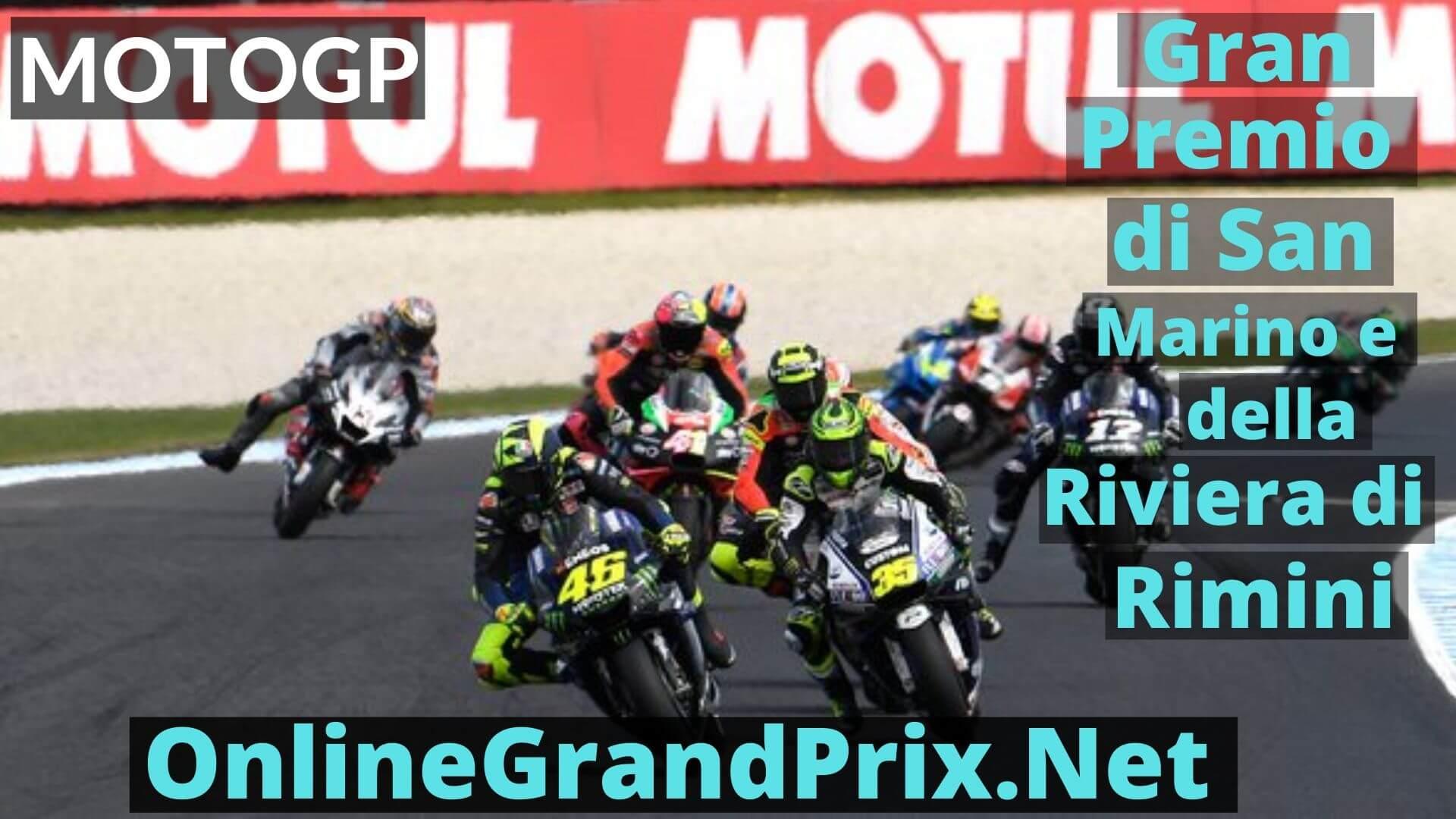 Gran Premio di San Marino e della Riviera di Rimini Live Stream 2020 | MotoGP