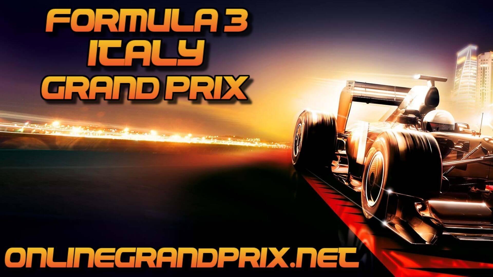 Italy F3 Grand Prix Live Stream 2020 | Race 1:Full Race Replay