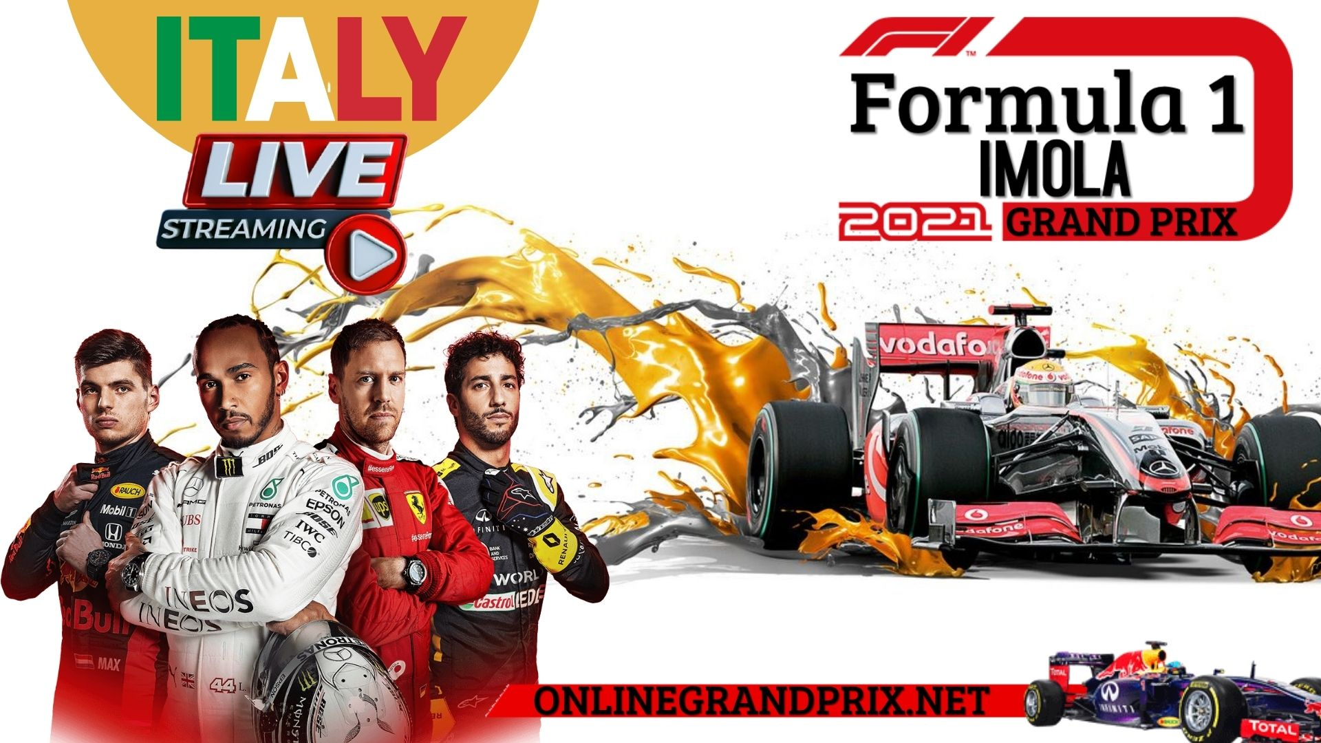 F1 Imola GP Live Stream 2021   Full Race Replay