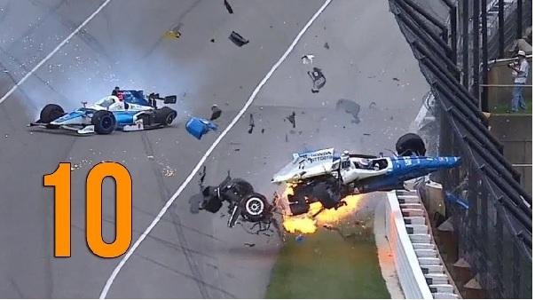 2018 Tope Ten Indy car Crashes