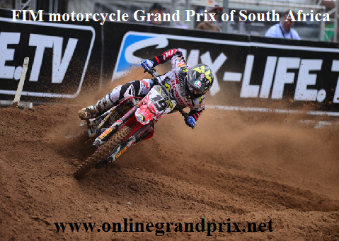 FIM motorcycle Grand Prix of South Africa Live Broadcast